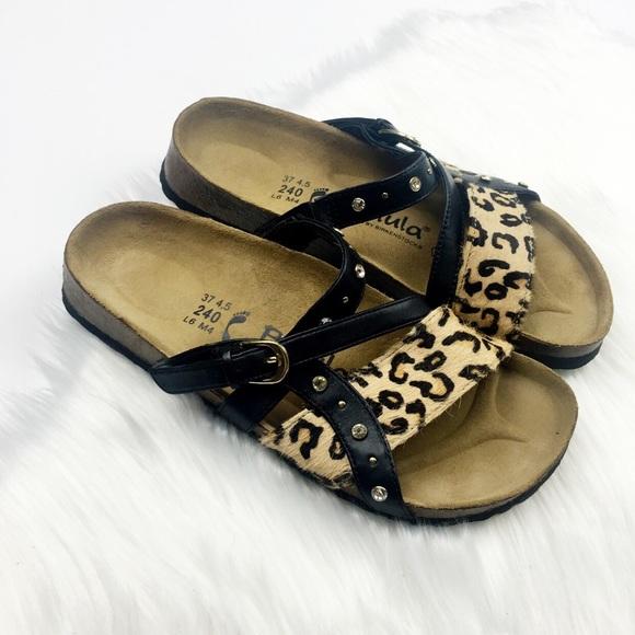 d677c86f4f9 Birkenstock Shoes - Birkenstock Betula Leopard Calf Hair Sandals