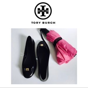 Tory Burch Shoes - Tory Burch Jelly Bow Ballet Rain Flats