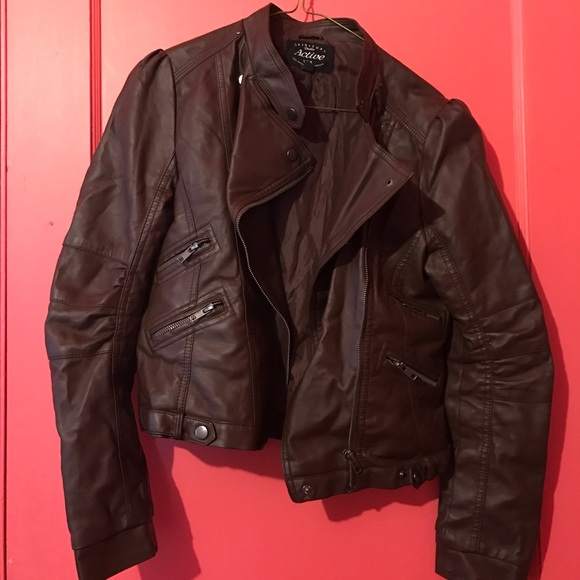 30% off Forever 21 Jackets & Blazers - Cute Brown Leather Jacket ...