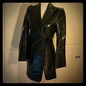 Ann Demeulemeester Black lamb leather blazer