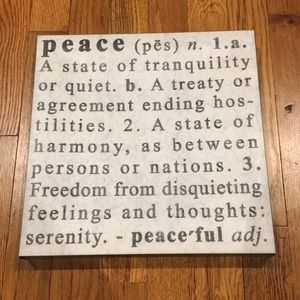 "Other - ""Peace"" wall art"