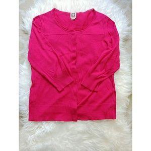 Anne Klein pink cardigan