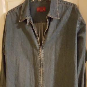 Jackets & Blazers - Zip front denim jacket
