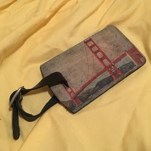 NEW San Francisco Leather Luggage Tag