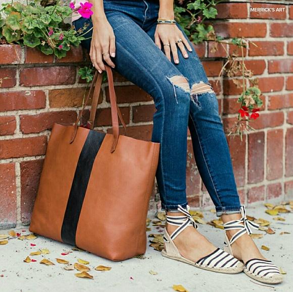 35d5d80499b16 Madewell Handbags - MADEWELL Paint Stripe Transport Tote