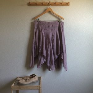 Angled Hem Skirt