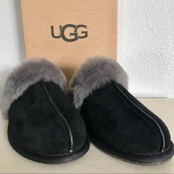 b9698a52a3d Sale ❤️ UGG Black/ Grey Scuffette II Slippers NWT