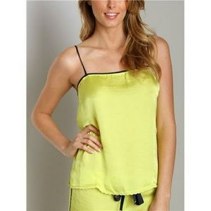 🍋Juicy Couture yellow crinkled satin cami M