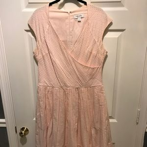 Pink fit and flair dress