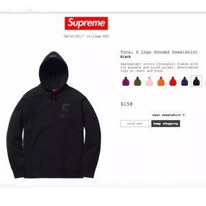 Supreme Shirts - SUPREME TONAL S LOGO HOODIE / SWEATSHIRT
