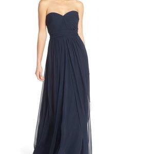 Jenny Yoo Mira Convertible Strapless Chiffon Dress