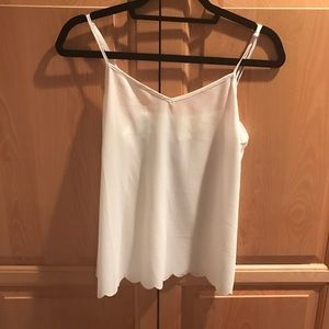 NWOT Anthropologie scallop cami