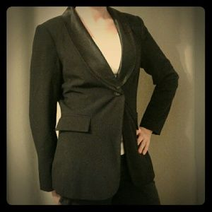 Black Blazer with Satin Lapel