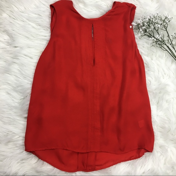 277642edef6f7c A.L.C. Tops - A.L.C. Red Silk Blouse Tank Top Size S