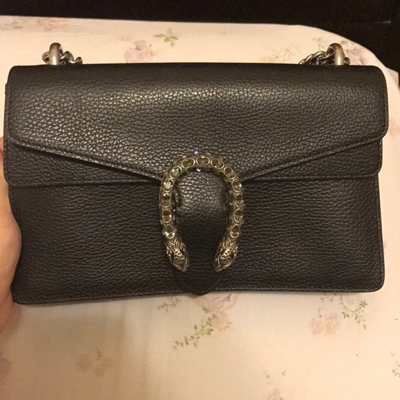 c328ec2dca4 Dionysus Gucci black leather bag NWT