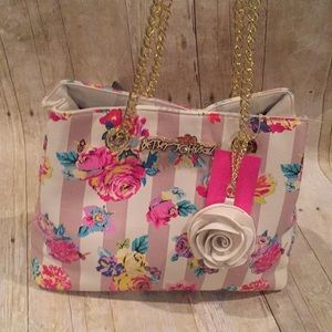 BETSEY JOHNSON NWT handbag with gold accent