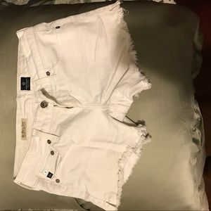 AG white jean shorts