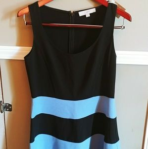 LOFT Dresses - Ann Taylor Loft Black and Blue A-line dress