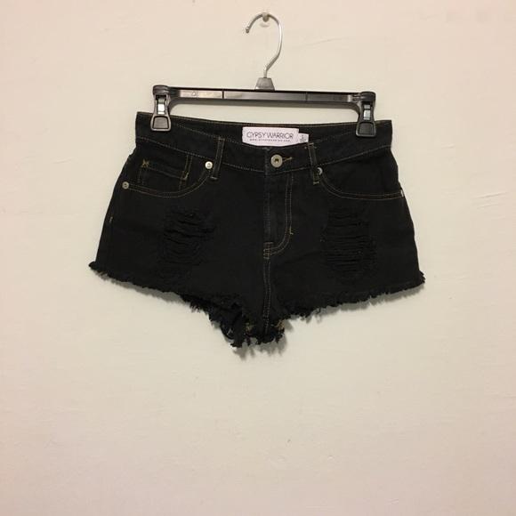 abcf772d95 Pacsun Black Distressed Jean Shorts. M_59b5f64e6d64bc7a62074611