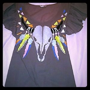 Rebel Yell Buffalo Skull Top