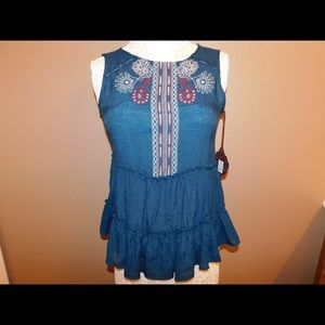 Knox Rose Turquoise Blue blouse