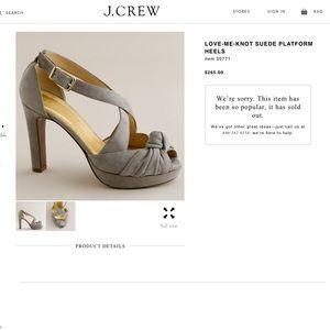 J. Crew Love-me-knot Suede Platform Heels