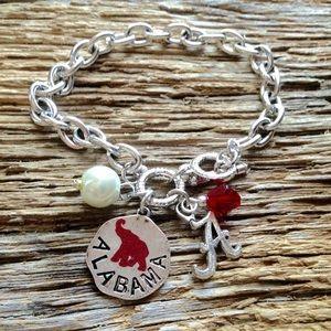 Jewelry - Alabama Roll Tide bracelet with elephant, Crimson