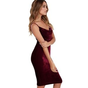 068d53072f9a Vogue Vice Dresses | Nwt Crushed Velvet Midi Slip Dress Floral ...