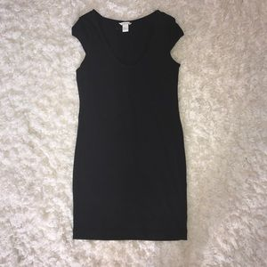 {H&M} new basic black comfy cotton dress