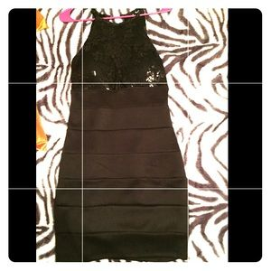 ✅Black sequin dress for homecoming/formal Like New