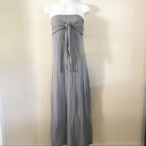Give and Honey gray strapless Maxie dress