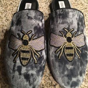 e92928a6f21 Steve Madden Shoes - Steve Madden Hugh Embellished Velvet Bee mules