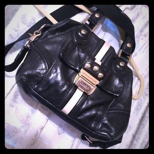 L.a.m.b. Black and white doctor satchel
