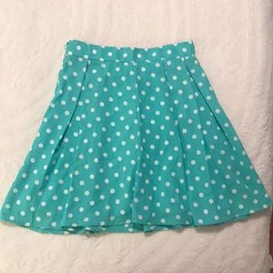 Polka Dotted High Waisted Skirt