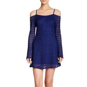 Pointelle Cold Shoulder Knit Dress