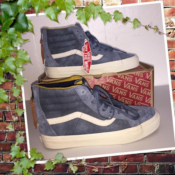 4b6de8f32f4fbd NWT Vans Suede Leather SK8-Hi Zip DX Varsity Blue