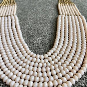 Jewelry - Blush beaded statement bib necklace