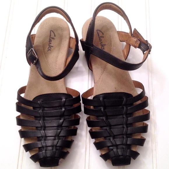 d63b390d7d376 Clarks Shoes - Clarks Jaina Rouge woven leather huarache sandals