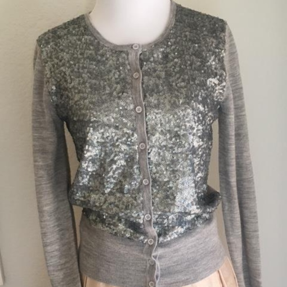62% off Ann Taylor Sweaters - Ann Taylor Gray Sequin Sweater from ...
