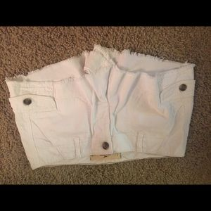 Hollister white cargo shorts shorts