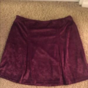 Dresses & Skirts - Hangar 221 (like brandy) velvet pleated skirt
