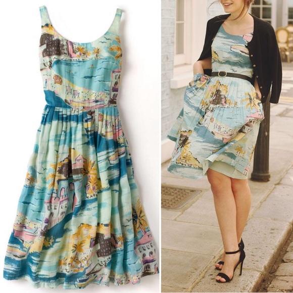 1095fdedb8e Boden Dresses   Skirts - Boden Nancy Dress in Blue Riviera