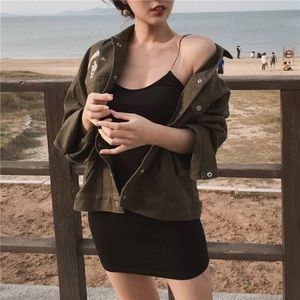 🎊military green🎊army style jacket