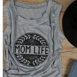 Tops - Mom Life grey tank
