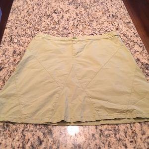 Skirt lime green organic