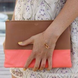 Celine Bags - CÉLINE Bicolor Lambskin Clutch