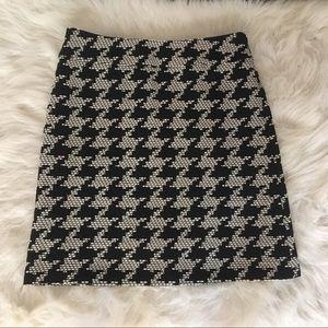 Talbots Black White Skirt