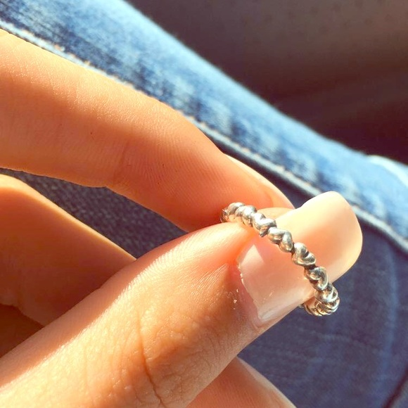 0c0c0a760 Pandora Jewelry | Heart Stacking Ring | Poshmark