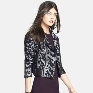 (DVF) NWT Theodora Leo Leather Jacket