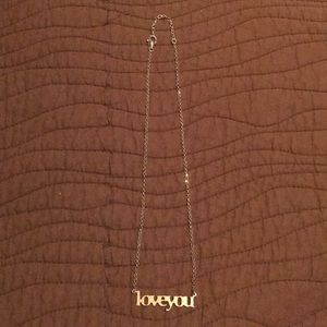 Jewelry - Love you necklace